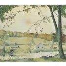 Dupont Eleutherian Mills Hagley Museum Painting Artist John McCoy 4X6 Postcardostcard