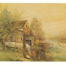Old Barley Mill Brandywine Creek  Hagley Museum Painting Artist Robert Shaw 4X6 Postcard