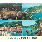 Italy Greetings from Portofino Resort Fishing Village 4X6 Multiview Postcardcard
