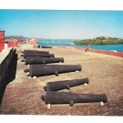 St Croix Virgin Island Fort Christiansvaern Christiansted Harbor Row of Cannons Postcard