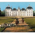 France Chateau Cheverny Loire Hunting Hounds Riding Artaud Freres 4X6 Postcard