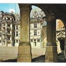 France Val Loire Blois Chateau lileLouis XII Courtyard Arcade Valoire 4X6 Postcard