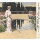 Quo Vadis Henryk Sienkiewicz She drew a fish in the sand Raczynski 1913 Poland Postcard