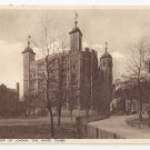 UK London Tower The White Tower Vintage ca 1920 Sepia Photochrom Postcard