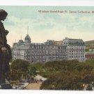 Canada Montreal Quebec Windsor Hotel from St James Cathedral Vintage Postcard