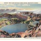 WY Yellowstone Park Twin Lakes Rock Creek Canyon Beartooth Highway Curteich Haynes Postcard