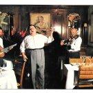 France Napoule Plage Restaurant La Mere Terrats Musicians Singer 4X6 Postcard