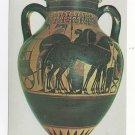 Greece Rhodes Museum Figure Black Attic Amphora Vtg 4X6 Postcard