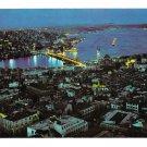 Turkey Istanbul Galata Bridge Bosphorus Scutary Night View Vintage 4X6 Postcard