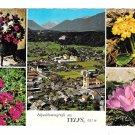 Austria Telfs Aerial View Alpenblumen Summer Flowers Multiview Tirol Alps 4X6 Postcard