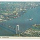 Philadelphia PA Camden NJ Delaware River Port Aerial View Vintage Postcard