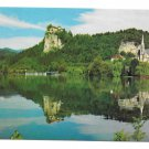 Slovenia Yugoslavia Lake Bled Island Julian Alps Castle Pilgrimage Church 4X6 Postcard