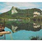 Slovenia Yugoslavia Julian Alps Lake Bled Island Pletna Boat Castle Pilgrimage Church 4X6 Postcard