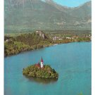 Yugoslavia Slovenia Lake Bled Island Julian Alps 4X6 Pomurski Tisk Postcard