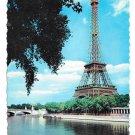 France Paris Eiffel Tower La Tour Eiffel River Seine Chantal Vintage Postcard