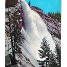 Yosemite National Park California Nevada Fall Merced River Curteich 1971 CA Postcard