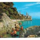 Croatia Rab Island Adriatic Sea Cliffs Beach Swimmers Vtg 4X6 Vjesnik Postcard