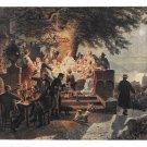 Sommernacht am Rhein Painting Artist G Bottcher Vntg German Art Postcard