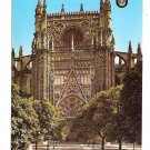 Spain Saville Puerta Cathedral Conception Gates Savilla Church 1965 4X6 Postcard