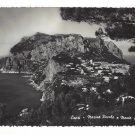 Italy Capri Marina Piccola Monte Solaro Aerial Glossy R Renza 4X6 RPPC Postcard