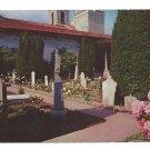 San Francisco CA Mission Dolores Graveyard Spanish Church Cemetery  1963 Postcard