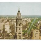 PA Philadelphia City Hall Tower Parkway View West Mike Roberts Postcard