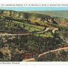 WY Highway US 14 Bighorn Mountains Switchback Lovell Yellowstone Greybull Vtg Postcardd 1938