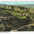 WY Switchback Highway US 14 Bighorn Mountains Sheridan Lovall Yellowstone Vtg Postcard