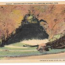WY Dragons Mouth Spring Yellowstone National Park Vintage Haynes Linen Postcard