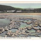 WY Yellowstone Park Sapphire Pool Biscuit Basin Haynes Linen Postcard 10096