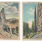 WY Yellowstone Park Osprey Aerie Chimney Rock Cody Hwy 2 Haynes Vntg Linen Postcard