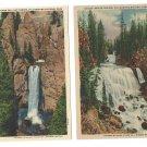Yellowstone Park WY Waterfall Kepler Cascade Tower Fall 2 Haynes Linen Postcards