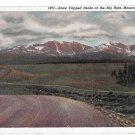 WY Big Horn Mountains Snow Capped Peaks Wyoming Panorama Sanborn Vintage 1947 Postcard