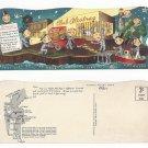 CA San Francisco Club Alcatraz Night Life On The Rock 1954 Die Cut Rossi 10X4 Postcard
