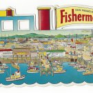 San Francisco CA Fisherman's Wharf Smith News Co Die Cut 9.5 X 4.5 Postcard4