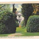 VA Charlottesville Ash Lawn Home of President James Monroe Vntg Curteich Linen Postcard