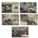 VA Mount Vernon Home of George Washington 5 Different Interior Rooms Reynolds Postcards