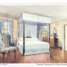 Mount Vernon VA George Washingtons Bed Chamber MVLA of the U 1934 Postcard