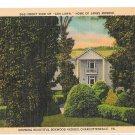 Ash Lawn Charlottesville VA Home of James Monroe US President Vntg Linen Postcardd