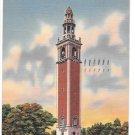 Richmond VA 66 Bells Carillon Tower War Memorial WWII Posted 1958 Linen Postcardn Postcardd