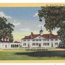 VA Mount Vernon West Front View Home of George Washington Vntg Reynolds Linen Postcard