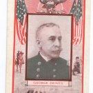 Rear Admiral George Dewey Navy Battle of Manila US Flags Patriotic Postcard