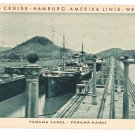 Hamburg Amerika World Cruise Steamer SS Resolute Panama Canal 1931 Postcard