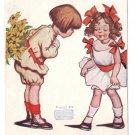 Katharine Gassaway Introduction Girl Meets Boy Flowers 1906 Artist Signed Postcard