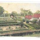 VA Mount Vernon Flower Garden George Washington Estate MVA Postcard Vtg 1920