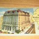 Vintage Willard Hotel Washington DC Postcard