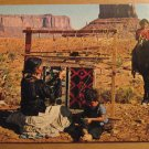 Vintage Rug Weaving Monument Valley Arizona-Utah Border Postcard