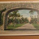 Vintage Granada Entrance Coral Gables Miami Florida Postcard