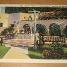 Vintage Patio And Fountain Governors Palace San Antonio Texas Postcard