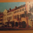 Vintage Rainbow Row Charleston SC Postcard